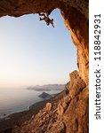 rock climber at sunset ... | Shutterstock . vector #118842931