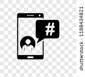hashtag vector icon isolated on ... | Shutterstock .eps vector #1188434821