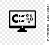monitor vector icon isolated on ... | Shutterstock .eps vector #1188435664