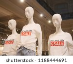 closeup plastic mannequin heads ... | Shutterstock . vector #1188444691