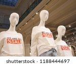 closeup plastic mannequin heads ... | Shutterstock . vector #1188444697