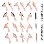 a set of vector cartoon...   Shutterstock .eps vector #1188452161