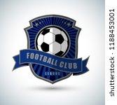 soccer football badge blue logo ... | Shutterstock .eps vector #1188453001