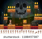 safari boy game concept... | Shutterstock .eps vector #1188457387