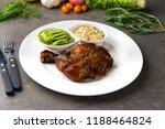grilled chicken drumstick steak | Shutterstock . vector #1188464824