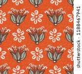 1950s style floral daisy vector ...   Shutterstock .eps vector #1188467941