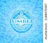 jumble light blue emblem with...   Shutterstock .eps vector #1188470587