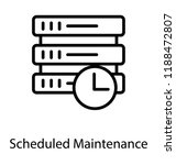 a scheduled maintenance with... | Shutterstock .eps vector #1188472807