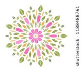 round floral mandala. vector... | Shutterstock .eps vector #1188488761