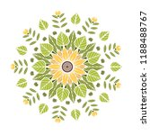 round floral mandala. vector... | Shutterstock .eps vector #1188488767