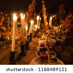 cemetery decoration in a day of ... | Shutterstock . vector #1188489121