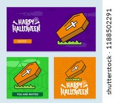 happy halloween invitation... | Shutterstock .eps vector #1188502291