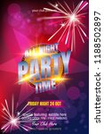 club poster template with...   Shutterstock .eps vector #1188502897