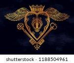 mystic key hole inside in the... | Shutterstock .eps vector #1188504961
