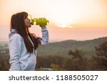 woman drink water from the... | Shutterstock . vector #1188505027