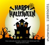 happy halloween invitation card ... | Shutterstock .eps vector #1188506551