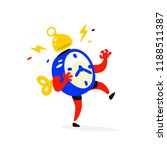 cartoon character is an alarm... | Shutterstock . vector #1188511387