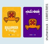 happy halloween invitation... | Shutterstock .eps vector #1188515851