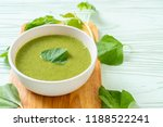 spinach soup bowl   healthy... | Shutterstock . vector #1188522241