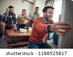 group of friends watching... | Shutterstock . vector #1188525817