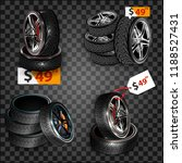 realistic shining disk car... | Shutterstock .eps vector #1188527431