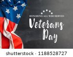 composite of veterans day flag | Shutterstock . vector #1188528727