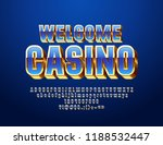 vector chic sign welcome casino.... | Shutterstock .eps vector #1188532447