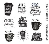 set of lettering designs with... | Shutterstock .eps vector #1188534751