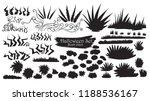 spooky bush and grass... | Shutterstock .eps vector #1188536167
