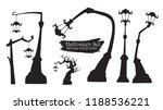 spooky street lamp silhouette... | Shutterstock .eps vector #1188536221