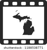 vector map of michigan | Shutterstock .eps vector #1188538771