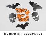 halloween gingerbread cookie...   Shutterstock . vector #1188543721