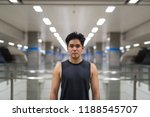 young handsome asian man at the ... | Shutterstock . vector #1188545707