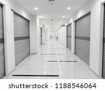 mall shop lot with roll shutter | Shutterstock . vector #1188546064