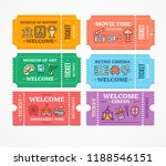 cartoon color different tickets ... | Shutterstock .eps vector #1188546151