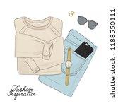 hand drawn fashion elements.... | Shutterstock .eps vector #1188550111