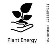 hand holding plant engraved in...   Shutterstock .eps vector #1188554131