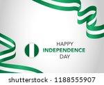 happy nigeria independent day....   Shutterstock .eps vector #1188555907