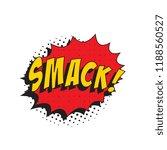 Word Smack In Retro Comic...