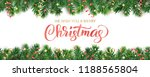 banner with merry christmas... | Shutterstock .eps vector #1188565804