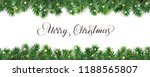 banner with merry christmas... | Shutterstock .eps vector #1188565807