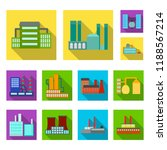factory and facilities flat... | Shutterstock . vector #1188567214