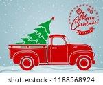 christmas greeting card.... | Shutterstock .eps vector #1188568924