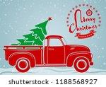 christmas greeting card.... | Shutterstock .eps vector #1188568927