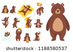 cartoon vector set of brown... | Shutterstock .eps vector #1188580537