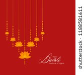 diwali greeting card with... | Shutterstock .eps vector #1188581611