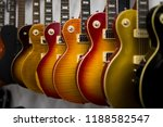 clolection of electric guitars... | Shutterstock . vector #1188582547