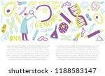 gene research hand drawn vector ... | Shutterstock .eps vector #1188583147