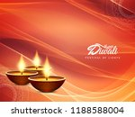 abstract stylish happy diwali... | Shutterstock .eps vector #1188588004