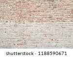 old weathered exposed brick... | Shutterstock . vector #1188590671